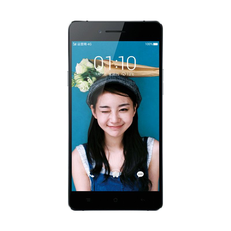 OPPO R1C宝石蓝移动4G手机正面