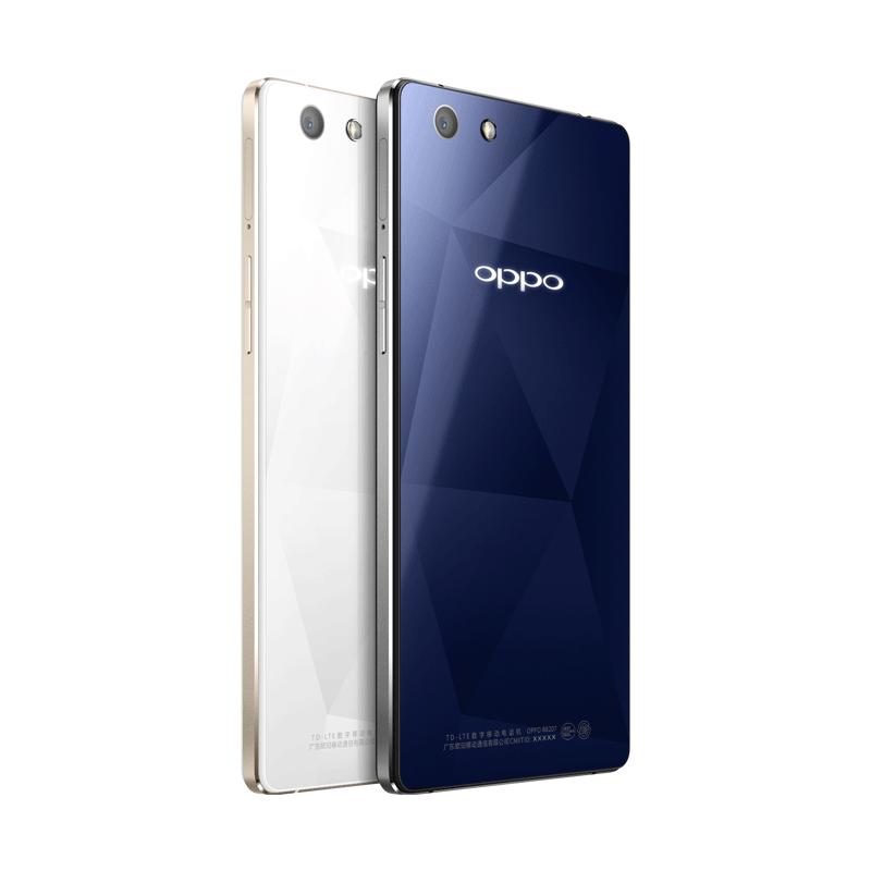 OPPO R1C冰晶白移动4G手机背面