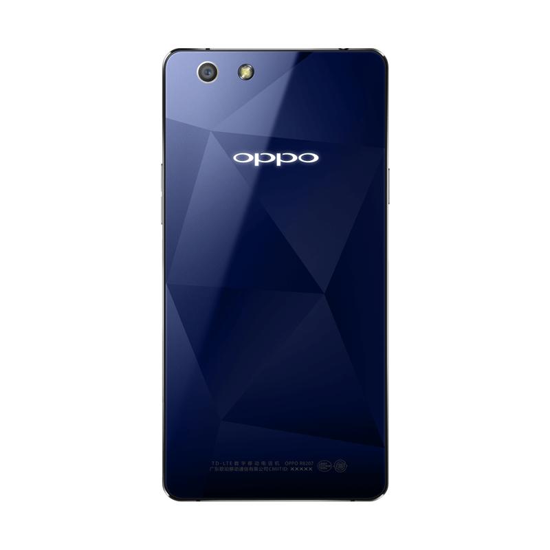 OPPO R1C宝石蓝移动4G手机背面